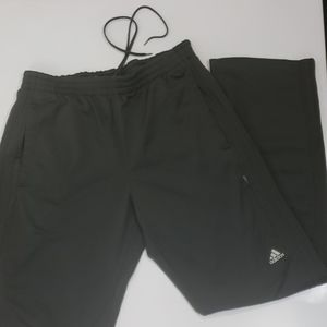 Mens Adidas track pants gray sz L pockets